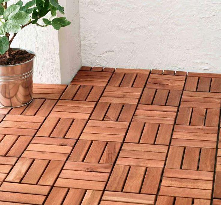 Pedana in legno - Come pavimentare un terrazzo con i quadrotti per non spendere tanto.