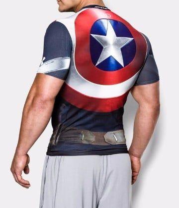 poleras de superheroes capitan america