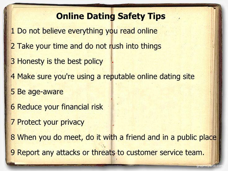 Safe dating advice