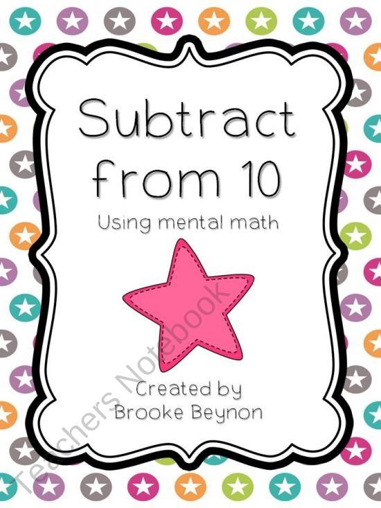 78 Best images about Subtraction Activities on Pinterest ...