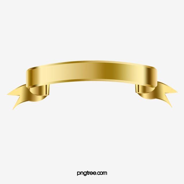 Gold Ribbon Box Title Png And Psd Ribbon Png Gold Ribbons Ribbon Clipart