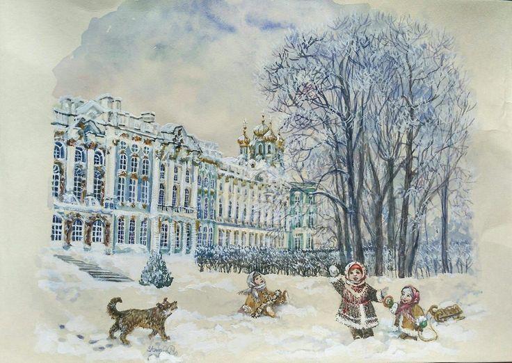 золотой зимний санкт-петербург картинки раскраска год пожалуй, самый