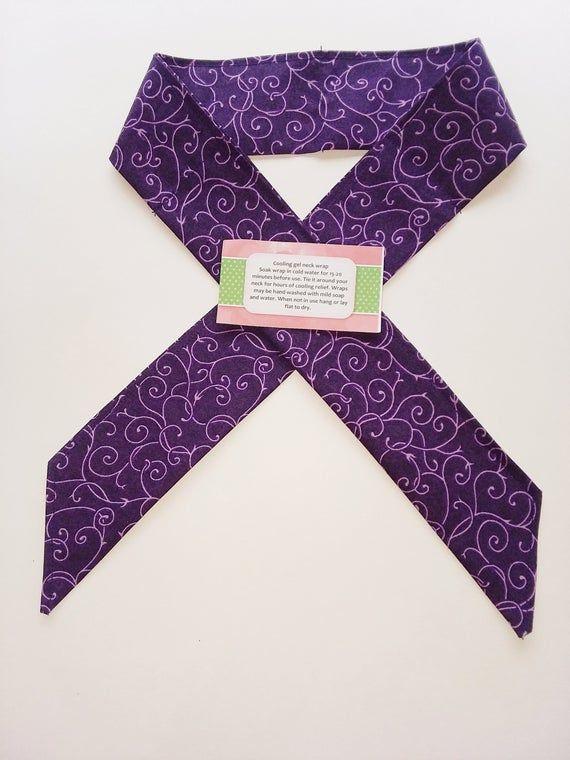Purple Cooling Neck Wrap Multiple Sclerosis Cooling Scarf Gel