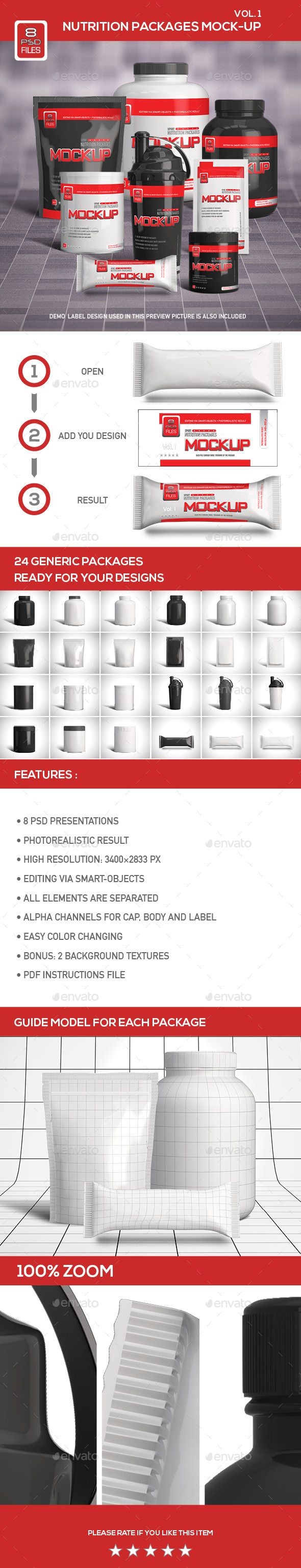 Nutrition Supplement Packages Mock-Up #design Download: http://graphicriver.net/item/nutrition-supplement-packages-mockup/12536682?ref=ksioks