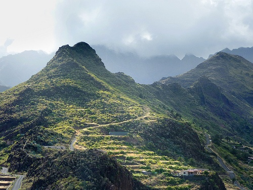 La Gomera, and island in the Canary Islands that still uses a whistling language called Silbo Gomero to transmit news, as the crazy geography helps the whistle distance wise