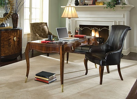 Bob Mackie Signature Desk U0026 Leather Chair Set By American Drew Furniture