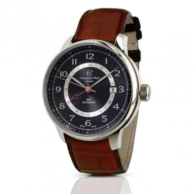 C9 Harrison GMT Automatic Watch with Tan Leather Strap, C9-GMT-SKT - Christopher…