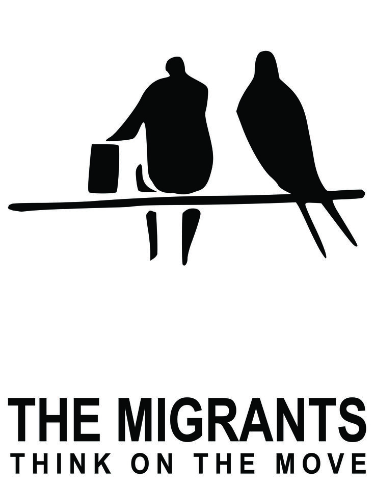 The Migrants - logotype for a blog about migrants - digital technique - Alessandra Baron 2011