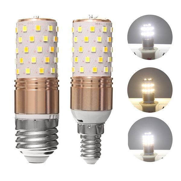 E27 E14 12w Smd2835 60 Led 3 Colors Temperature Corn Light Bulb Home Chandelier Lamp Ac85 265v With Images Led Lights Led Light Bulbs Led Bulb