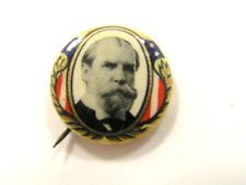 1916 PINBACK CAMPAIGN BUTTON - 1916 CHARLES EVANS HUGHES FOR PRESIDENT