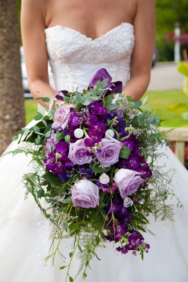Romantic Cascading Bridal Bouquets