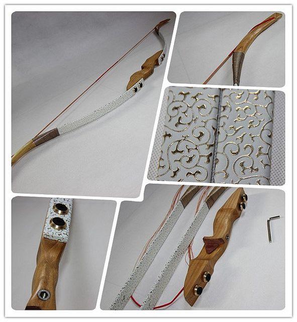 White-Golden Takedown bows, handmade craft, 45/50 Lb, $119.99 only.