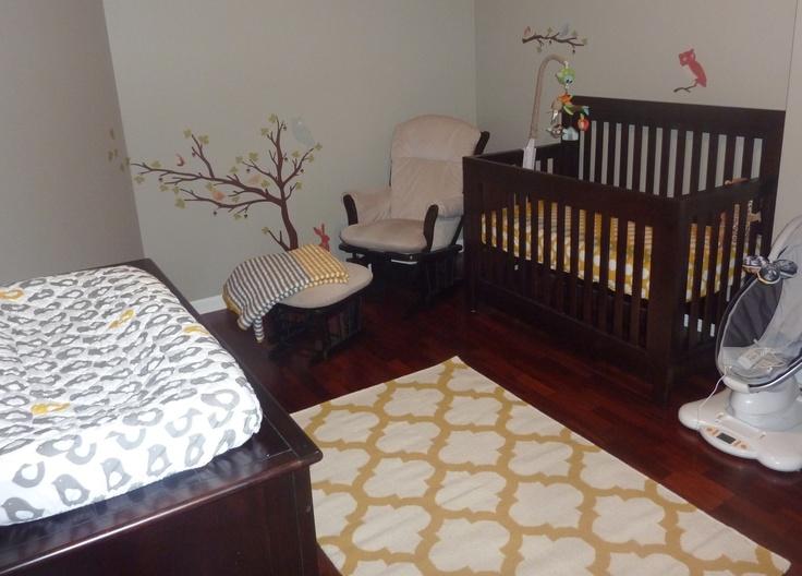 Oliver's room. Land of Nod bedding set the tone Bed