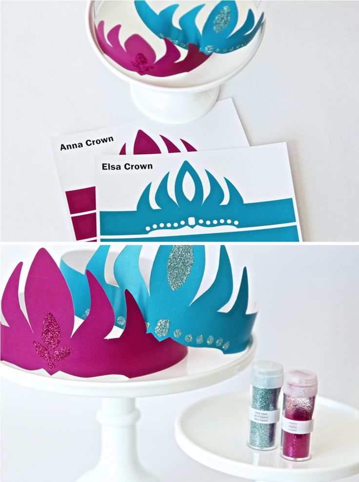 Free Printable Frozen Crowns for an Ice Princess