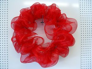 You'll Need... Wire wreath frame Pipe cleaner Scissors Deco Mesh (choice of yours) Things to decorate the wreath with (like ribbons, small wooden letters,holiday ornaments etc)Step 1 Attach the pipe cleaners...