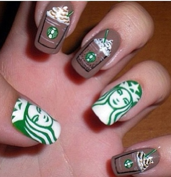 Wow!!!! A typical white girl that loves star bucks would do this..... lol js I wouldn't do this
