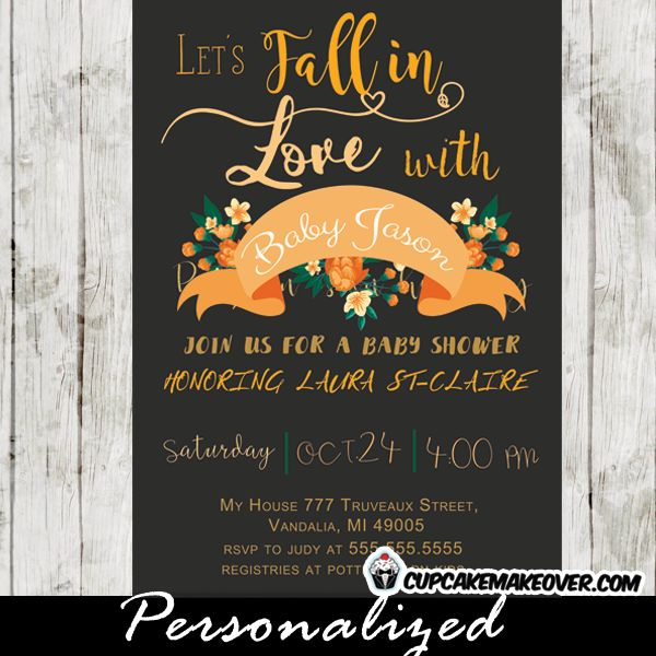 13 best fall baby shower invitations pumpkins images on pinterest fall in love elegant autumn themed baby shower invitation featuring a beautiful banner with modern filmwisefo