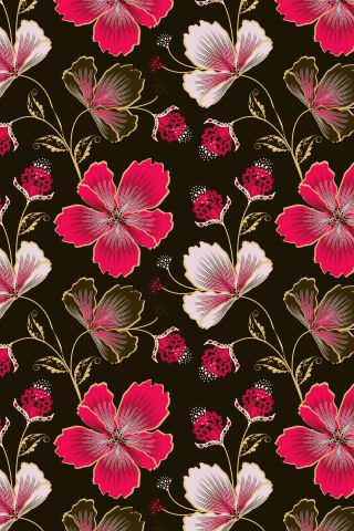 """""""Hibiscus Hawaii"""" by Yantur. To have a colourlovers pattern printed on fabric, go to http://www.colourlovers.com/store/fabric"""