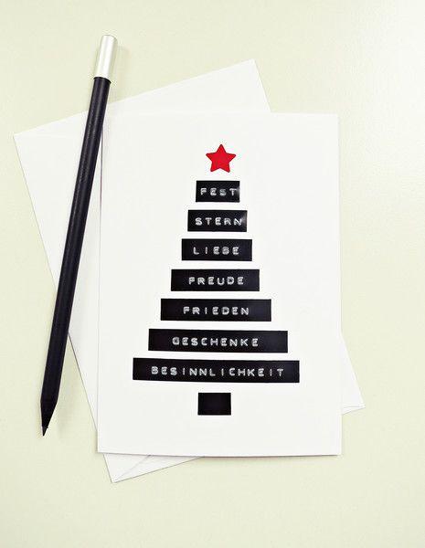 Weihnachtskarten - Ahoj-2012 Dymo-Weihnachtskarte, Weihnachtsgrüße - ein Designerstück von Ahoj-2012 bei DaWanda