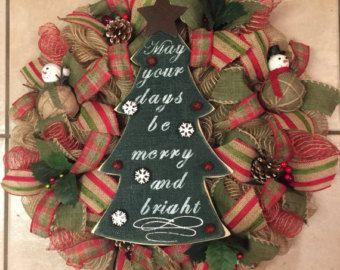 Albero di Natale ghirlanda Ghirlanda Deco maglia di SnappyPea