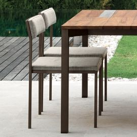 Set of 4 garden chairs Casilda, with stainless steel structure