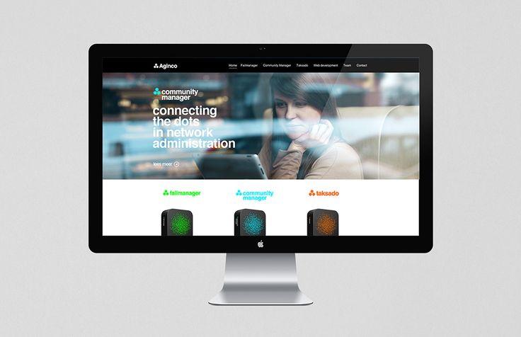 Aginco - Webdesign   by Skinn Branding Agency