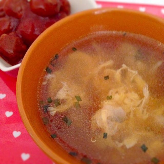 簡単に〜(´ρ`) - 3件のもぐもぐ - えのきの卵スープ by sa2rkty