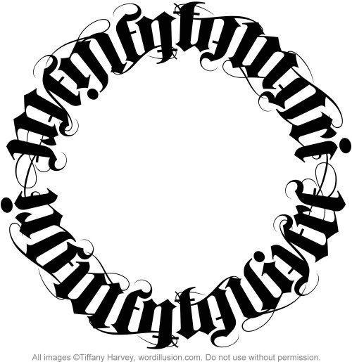 """Memento Mori"" & ""Memento Vivere"" Ambigram Circle"