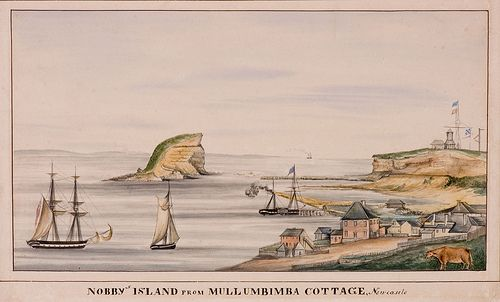 Nobby's Island from Mullumbimba Cottage, (c.1830)