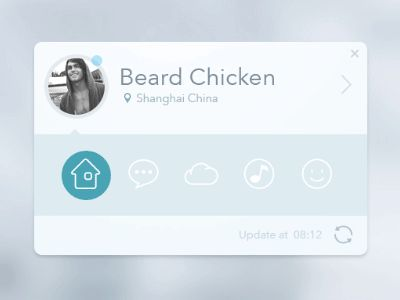 Dribbble - app card by Beard Chicken #UImotion
