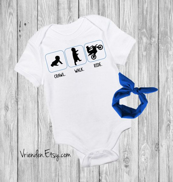 Walk. Crawl. Ride - Funny Baby Outfit for Motorcycle Riders, Dirt Bike Lover, Motorhead, Gear Head, I Wheelie Love Daddy by vrienden Clothing Unisex Kids' Clothing Bodysuits Rice Rocket Sport Bike Lover Harley Motorbike Biker Dad First Fathers Day 1st dads day new baby gift pregnancy reveal you are my father sons first hero daughters first love future riding buddy Funny baby Onesie