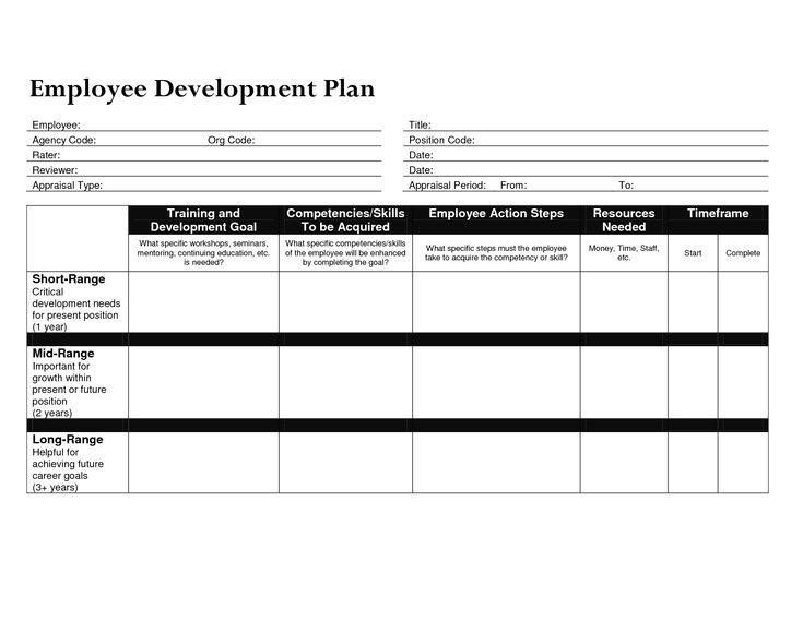 Beautiful Sample Employee Development Plan Examples Images - Best