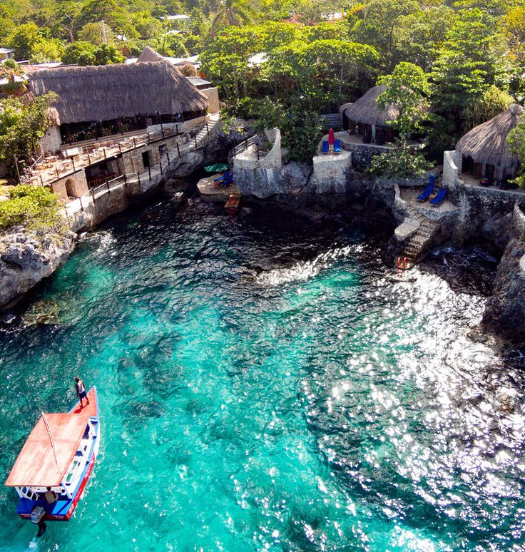 Rockhouse Hotel Negril, Caribbean tree water swimming pool water feature pond swimming stone surrounded