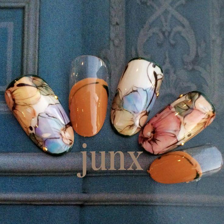 """#nailspacejunx #junx #nail #nails #nailart #ネイル #leafgel #リーフジェル #小野市ネイルサロン #佐藤淳子 #しぇあねいる"""
