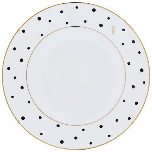 ELLE – Black Polka Dot Dinner Plate