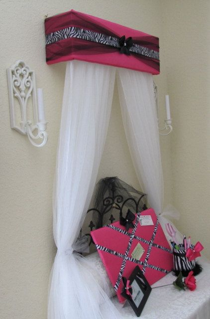 Personalized Bed Crown Canopy Curtains SALE Zebra Upholstered Princess FREE. $39.99, via Etsy.