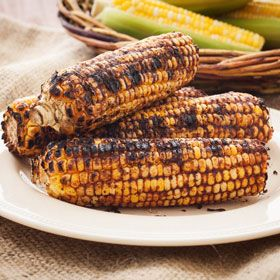 Spice-Rubbed Grilled Corn, a recipe from ATCO Blue Flame Kitchen's From the Grill 2014 cookbook.