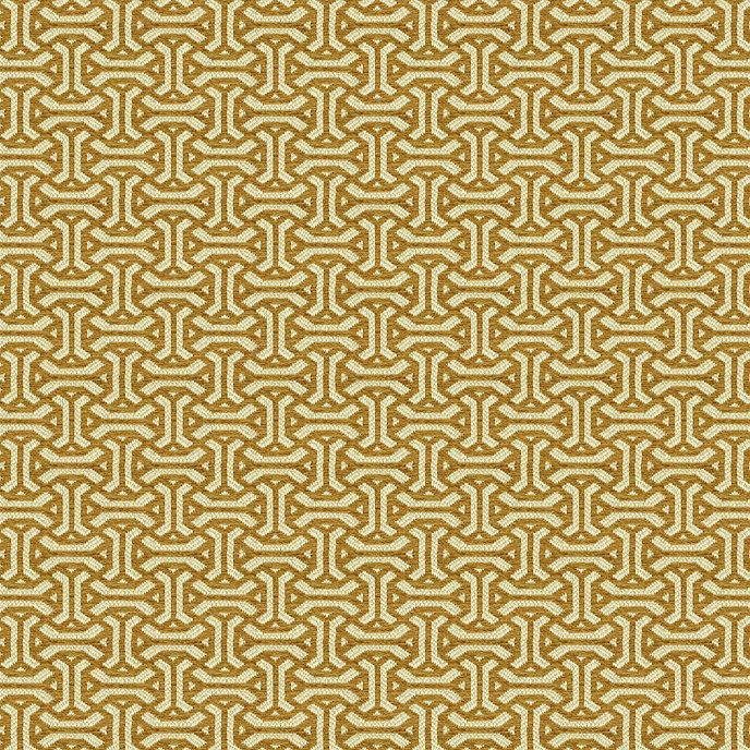 "BALLARD DESIGNS SMALL CHECK TOFFEE BROWN CREAM MULTIPURPOSE FABRIC BY YARD 54/""W"
