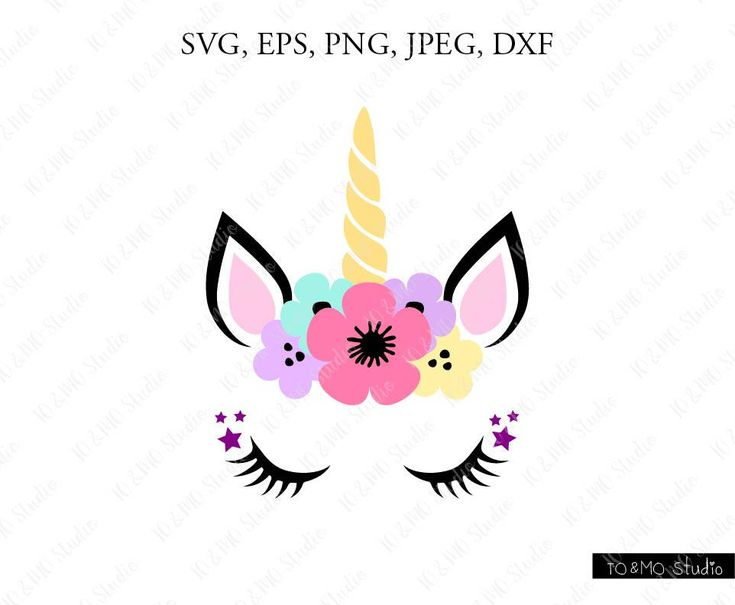 Unicorn Face Silhouette Transparent Background