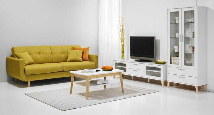 Olivia -huonekalusarjan yleisilme on selkeä ja konstailematon. Pehmeät, pyöreät muodot tekevät siitä yksilöllisen ja monivivahteisen. Kalusteiden materiaalina on laadukas massiivikoivu ja kestävä mdf-levy. Värivaihtoehdot: valkoinen/luonnonvärinen koivu ja valkoinen, rajoitetusti luonnonvärinen koivu. Laulumaa Huonekalut