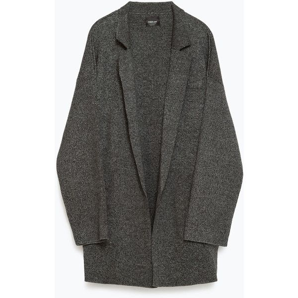Zara Oversized Cardigan ($70) ❤ liked on Polyvore featuring tops, cardigans, zara cardigan, oversized cardigan and zara top