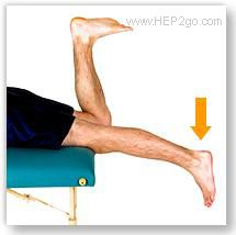 Prone knee hangs are a good exercise for regain knee extension following a torn meniscus.