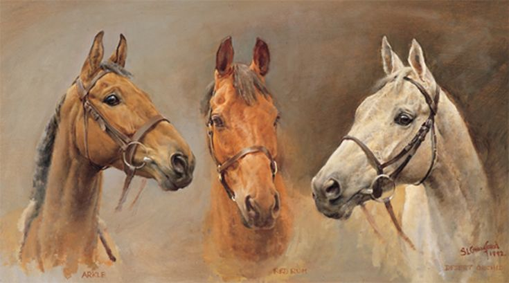 We Three Kings is an oil painting on board depicting the three iconic horses of British racing: Arkle, Red Rum and Desert Orchid. Find out more...