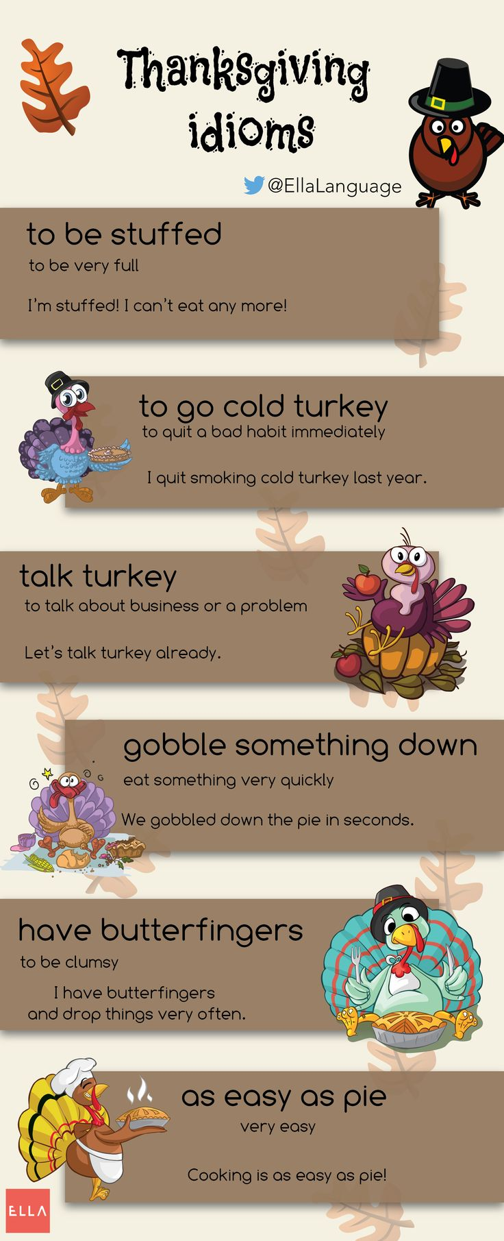 #Thanksgiving #idioms #infographic