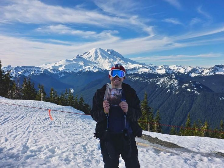 Wow, what a view!! Today the #IHaveLivedToday #WorldBookTour hits the slopes, with the iconic Mt. Rainier as an impressive backdrop.