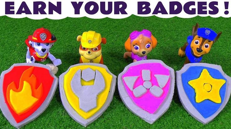 Paw Patrol Play Doh Stop Motion earn your badges with rescues and Thomas...