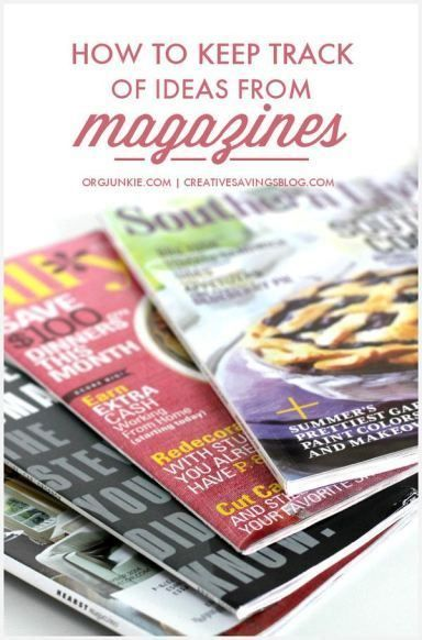 Magazines are a wealth of information presented in such a fun and visual way, but if you don't have a plan to capture all those awesome ideas, they can quickly become another stack of paper clutter. Here`s my tried-and-true system for magazine organization so you can collect ideas that don't collect dust!