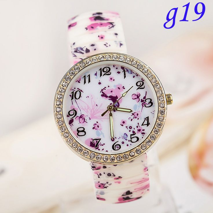 New Arrival Hot Colorful Silicone Stretch Watch,1Pcs/Lot Woman Jelly Rhinestone Watch Students Watch $195,55