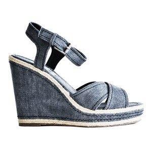 Sandále platformové riflové