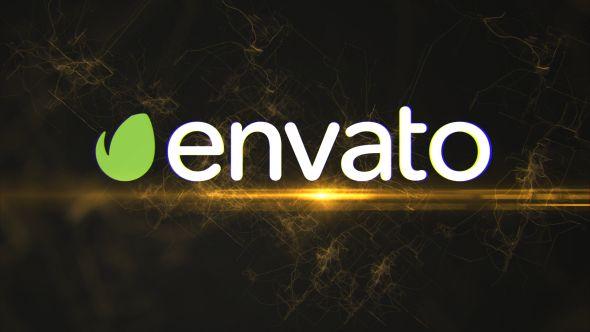 Electric glitch logo reveal